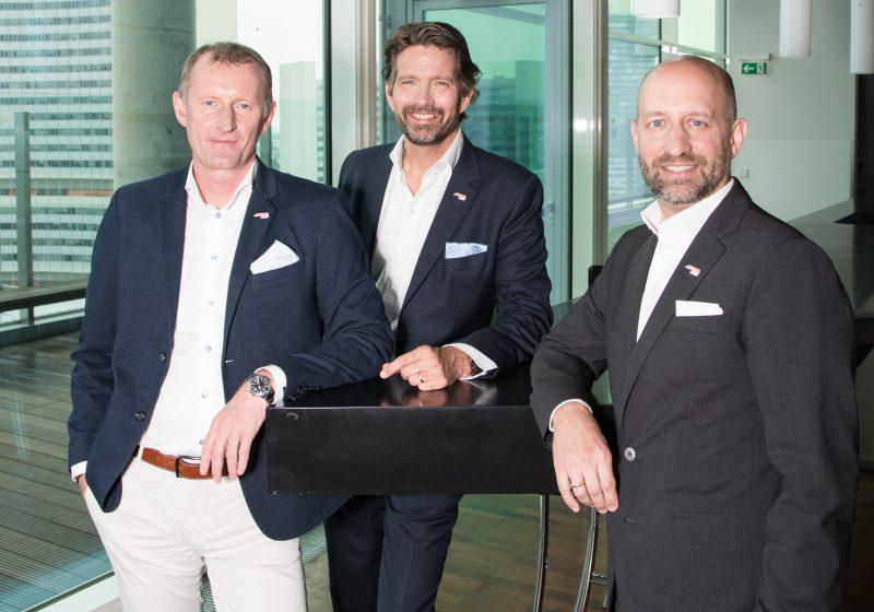 Im Amt bestätigt: AUSTROMED-Präsident Gerald Gschlössl (Lohmann & Rauscher) KommR Alexander Hayn, MBA (Chemomedica)und Christian Braun (B. Braun Austria GmbH), v.l.n.r.