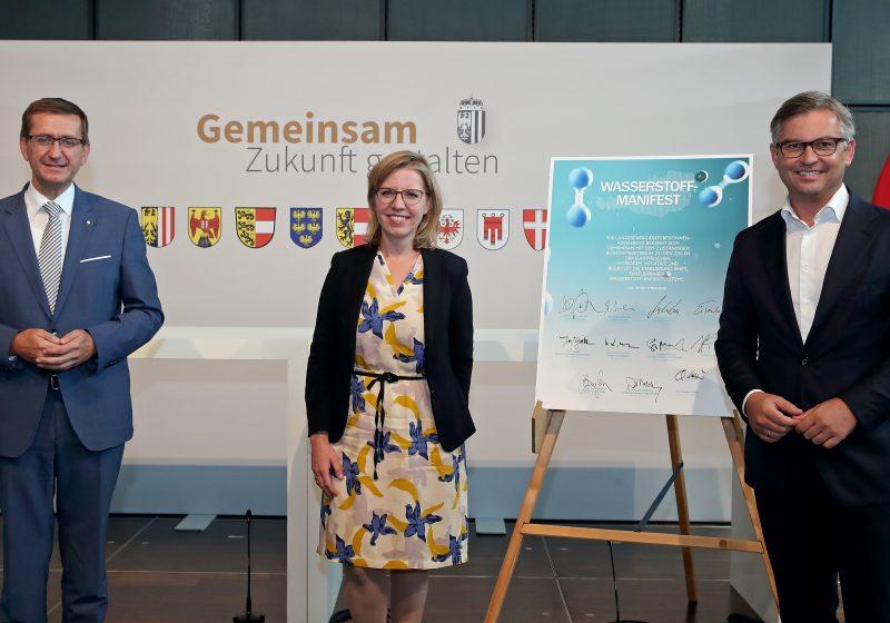 Wasserstoff Report Achleitner Brunner Gewessler Wasserstoffmanifest