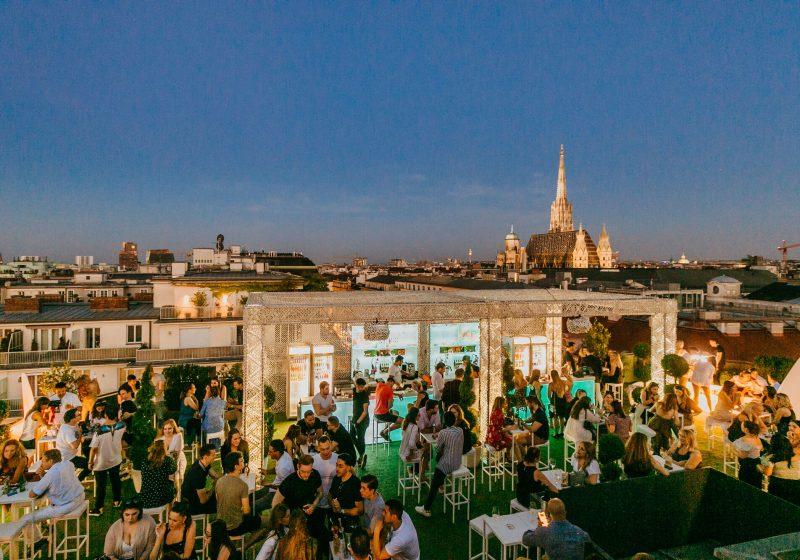 Falstaff wählt die beliebtesten Rooftop- und Outdoor-Locations des Landes Organics Sky Garden