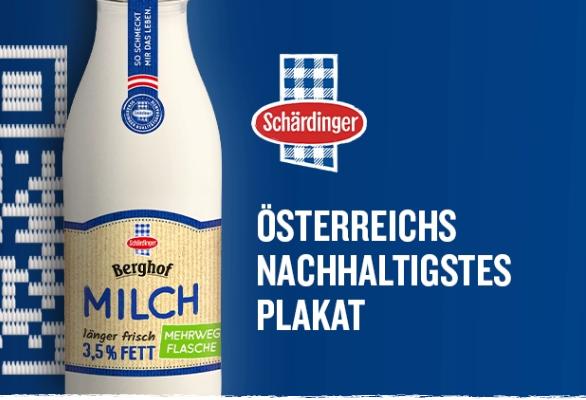Österreichs nachhaltigstes Plakat Schärdinger Berglandmilch