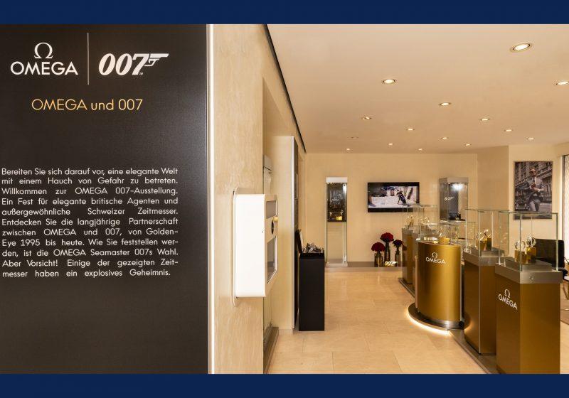 James Bond Ausstellung in der OMEGA-Boutique in Wien