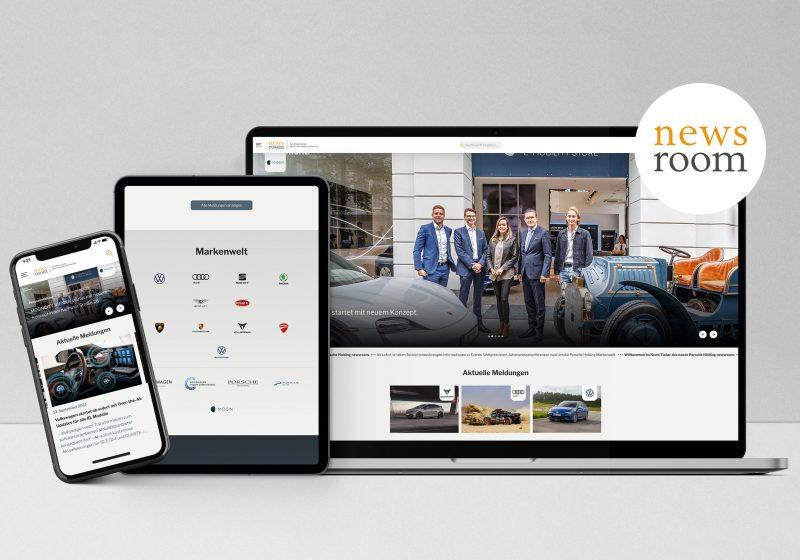 Porsche Holding Salzburg launcht neuen newsroom